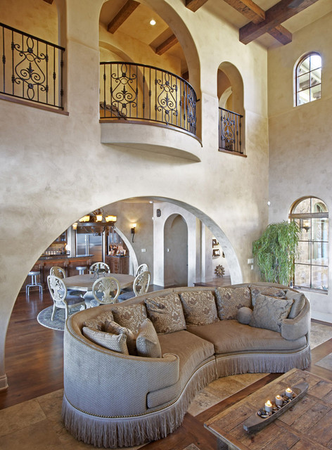 Massoud Furniture Living Room Mediterranean with Arch Windows Archway Balcony