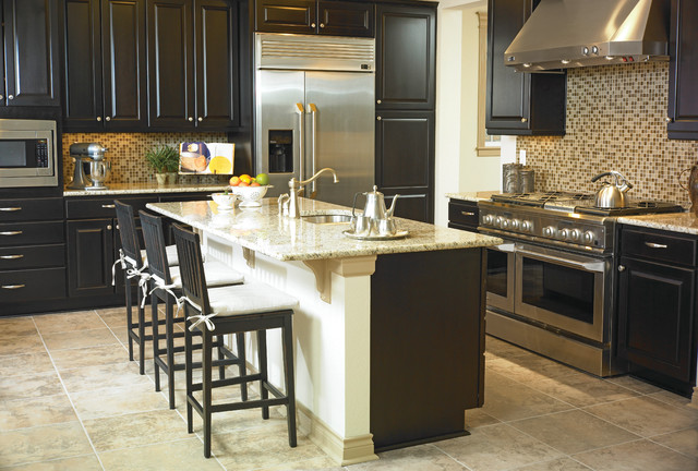 Mastercraft Cabinets Kitchen Transitional with Black Kitchen Cabinets Cabinet