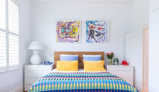 Mattress and Boxspring Sale Bedroom Eclectic with Abstract Art Childrens Art