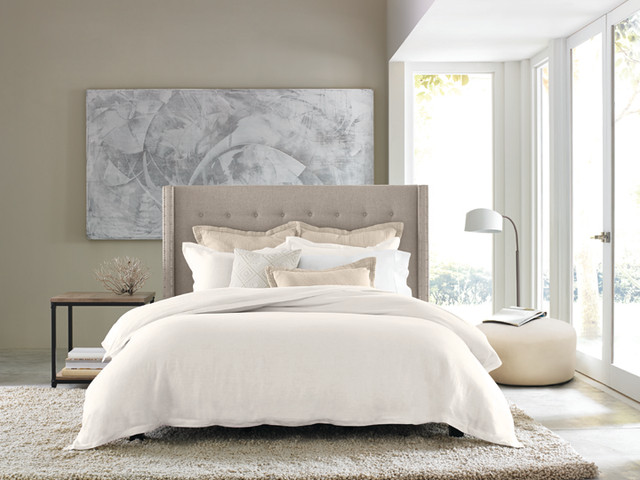 Mattress Topper Bedroom Contemporary with Bed Bedroom Bold Clean