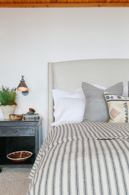 Mattress Topper Bedroom Rustic with Library Lights Neutral Palette