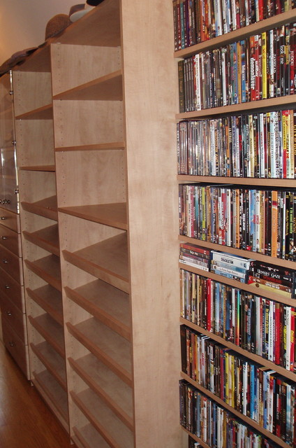 Melamine Shelving Closet Modern with Cd Storage Dvd Storage