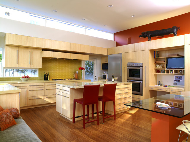 Merola Tile Kitchen Contemporary with Bamboo Bamboo Cabinets Bamboo