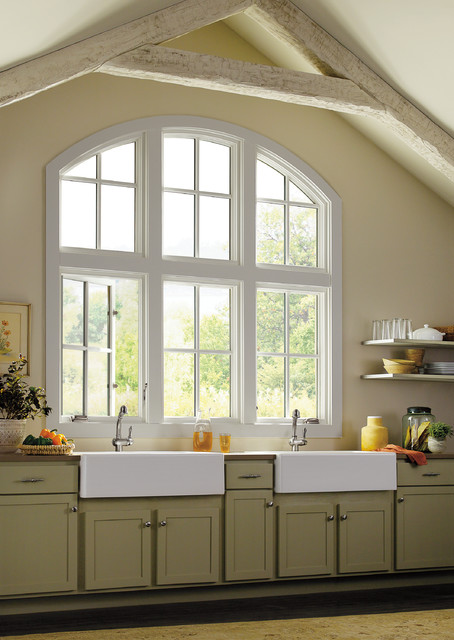 Messy Marvin Kitchen Traditional with Cabinets Casement Window Kitchen