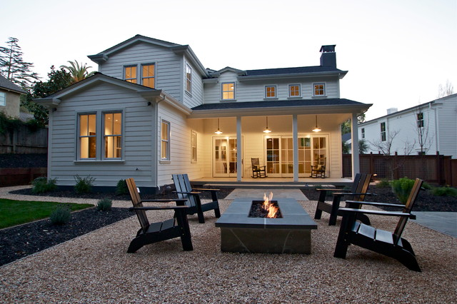 Messy Marvin Patio Farmhouse with Backyard Fire Pit Garden