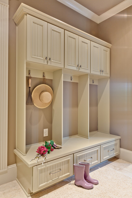 Mid Continent Cabinetry Entry Traditional with Baseboards Beadboard Built In1