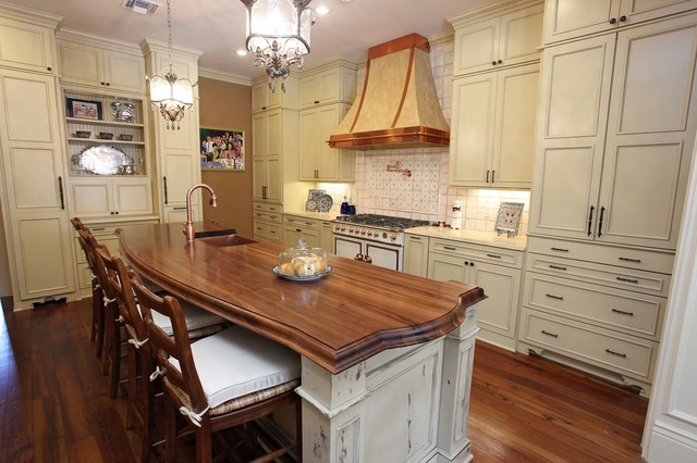 Mid Continent Cabinetry Kitchen Traditional with Butcher Block Countertop Cornufe1