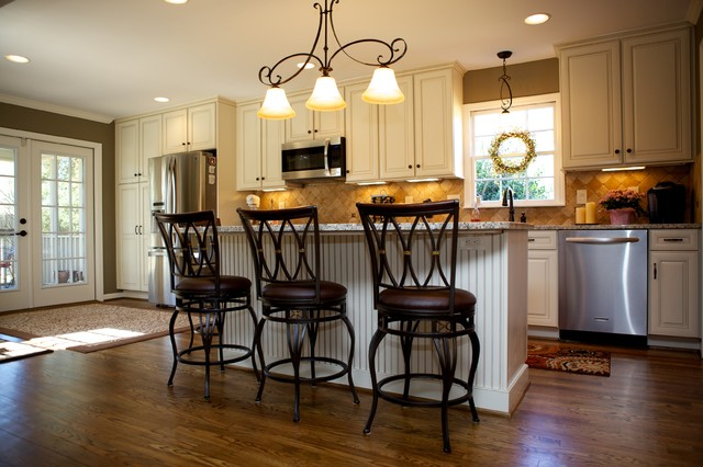 Mid Continent Cabinets Kitchen Traditional with Bead Board Budget Friendly