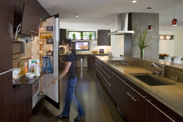 Miele Refrigerator Kitchen Contemporary with Cabinet Front Refrigerator Ceiling