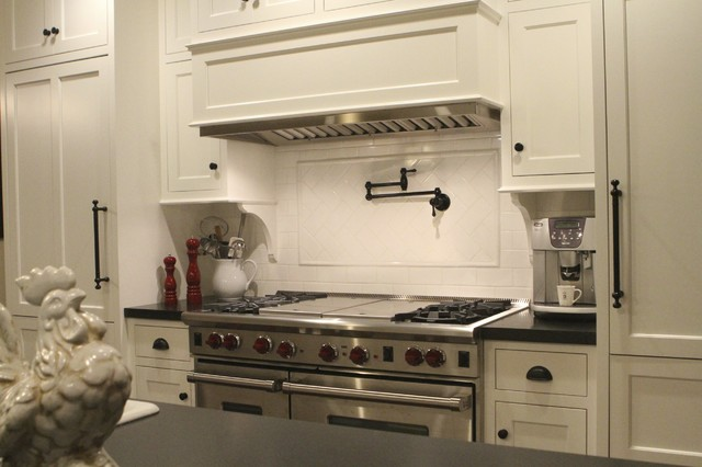Milk Frothers Kitchen Contemporary with Absolute Black Honed Granite