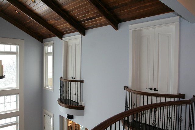 Milliken Millwork Hall Contemporary with Balcony Handrail Balusters Brushed