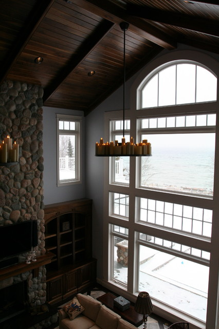 Milliken Millwork Living Room Contemporary with Curved Trim Curved Window
