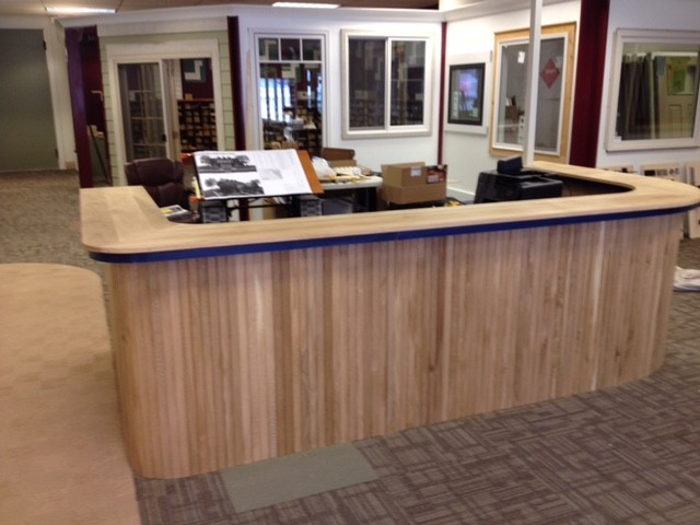 milliken millwork Spaces Traditional with architectural elements cedar siding