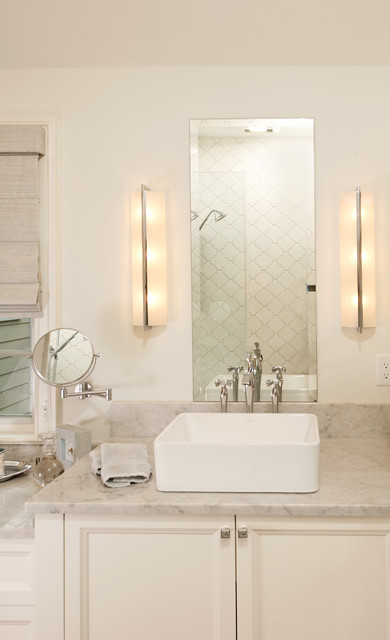 Minka Lavery Bathroom Traditional with Makeup Mirror Sconces Unframed