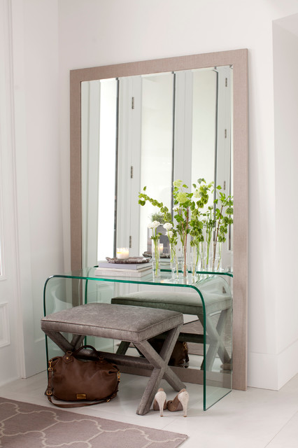 Mirrored Console Table Entry Contemporary with Clear Console Table Cool