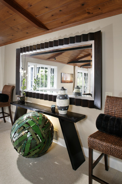 Mirrored Console Table Living Room Contemporary with Ball Baseboards Console Table