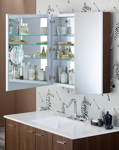 Mirrored Medicine Cabinet Bathroom Contemporary with 34 X 30 Medicine