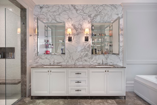Mirrored Medicine Cabinet Bathroom Contemporary with Bathroom Storage Double Medicine