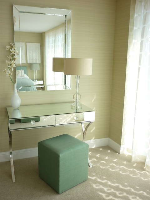 mirrored vanity table Bedroom Eclectic with CategoryBedroomStyleEclecticLocationOther Metro