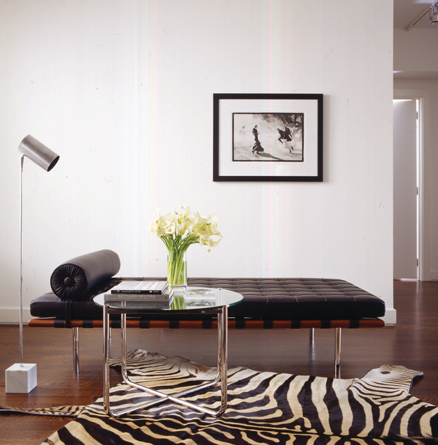 modern daybed Living Room Modern with barcelona daybed chrome floor