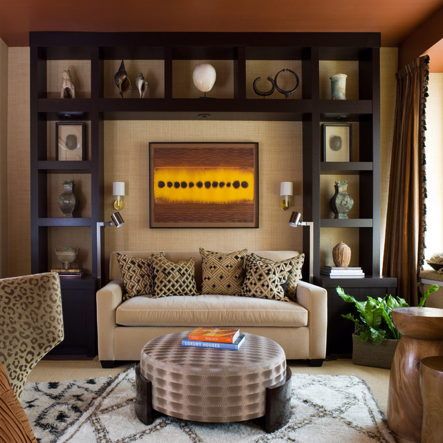 Modern Loveseat Living Room Contemporary with Black Decorative Pillows Display