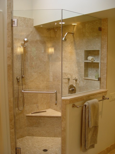 Moen Shower Bathroom Contemporary with Built Ins Ceiling Lighting