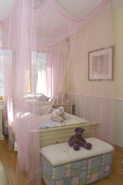 Mosquito Net Canopy Kids Eclectic with Bed Bench Bedside Table