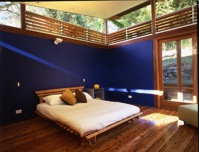Most Comfortable Futon Bedroom Beach with Blue Walls Butterfly Roof