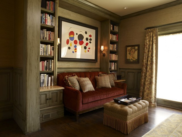 Most Comfortable Sleeper Sofa Family Room Traditional with Art Calder Custom Bookcase