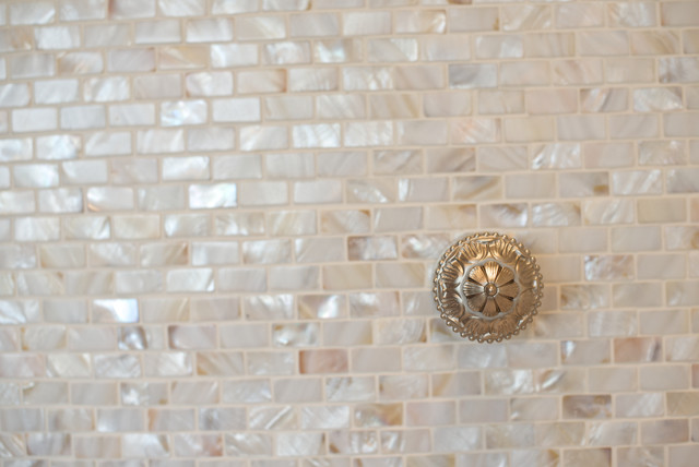Mother of Pearl Tile Bathroom Mediterranean with Categorybathroomstylemediterraneanlocationcalgary 1