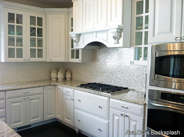 Mother of Pearl Tile Kitchen Traditional with Mother of Pearl Backsplash1