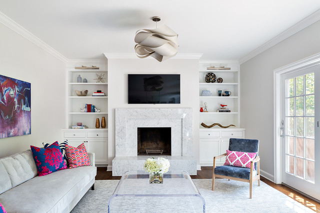Mounting Tv Above Fireplace Living Room Transitional with Artwork Cabinetry Contemporary Custom