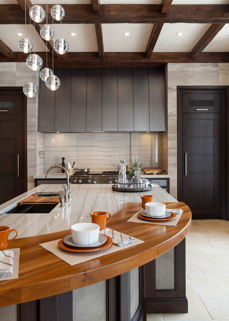 Msi Granite Kitchen Traditional with Ceiling Lighting Curved Island