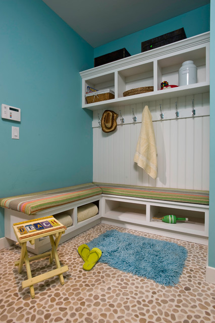 Mudroom Bench Entry Contemporary with Baskets Beachy Coat Rack