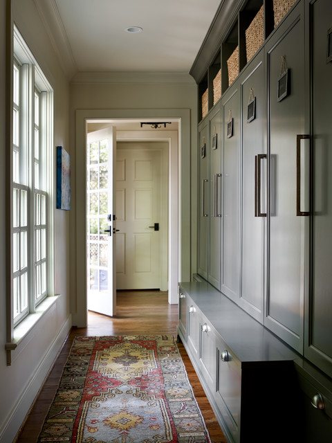 Mudroom Lockers Entry Transitional with Arch Bar Pulls Bench