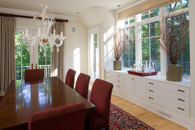 Murano Glass Chandelier Dining Room Traditional with Bay Window Branches Built In