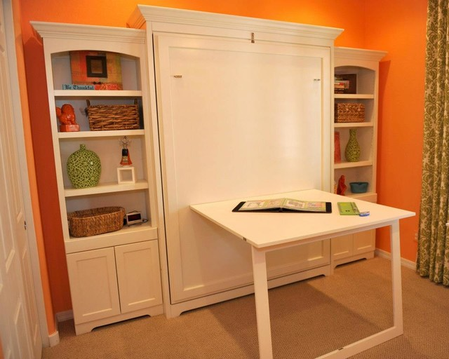 Murphy Bed Desk Bedroom Traditional with Arizona California Los Angeles