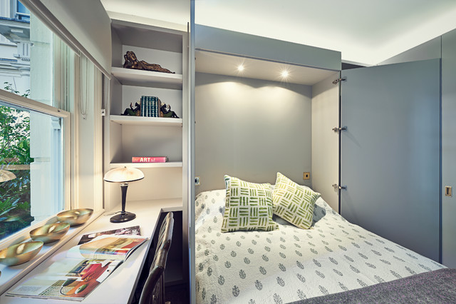 Murphy Bed Desk Bedroom Transitional with 7 Year Old Boys