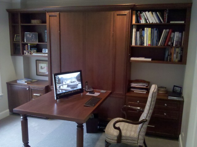 Murphy Bed Desk Home Office Traditional with Categoryhome Officestyletraditionallocationseattle