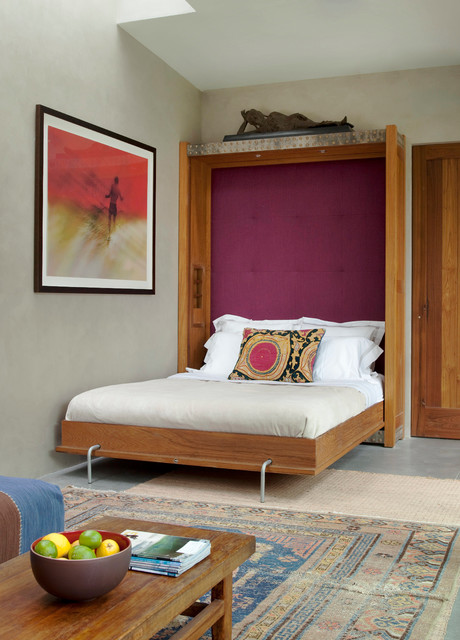 Murphy Bed Ikea Bedroom Eclectic with Embroidered Rug Framed Artwork