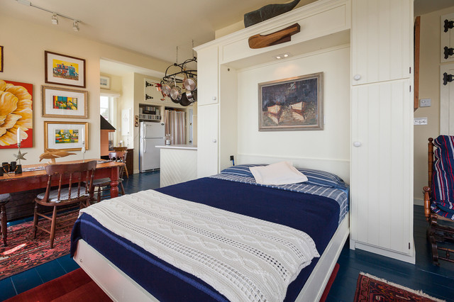 Murphy Bunk Beds Bedroom Beach with Blue Bedding Blue Floor