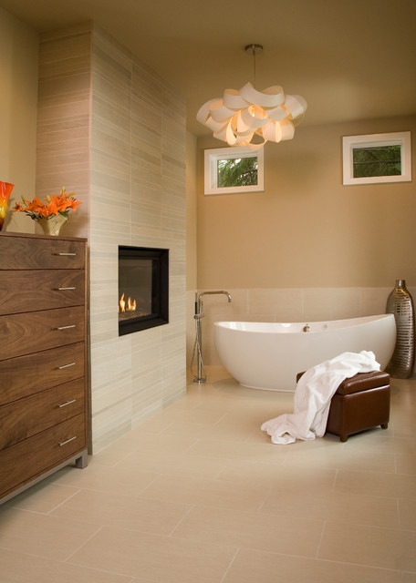 Napoleon Fireplaces Bathroom Contemporary with Bath Bathroom Fireplace Bathroom