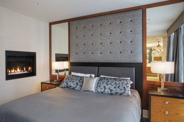 Napoleon Fireplaces Bedroom Contemporary with Custom Millwork Fireplace Gas