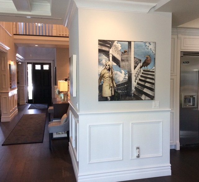 Napoleon Fireplaces Living Room Traditional with Classic Design Contemporary Artwork