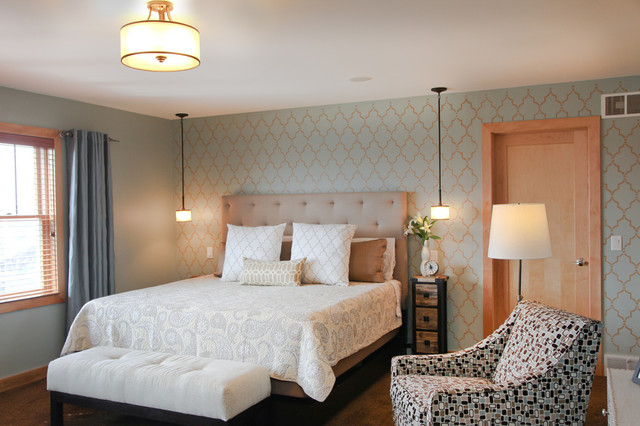 Narrow Bedside Table Bedroom Transitional with Bedroom Ceiling Lighting Bedroom1