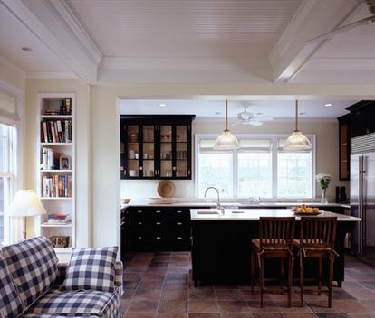 narrow bookshelf Kitchen Traditional with cabinets counter stool counter