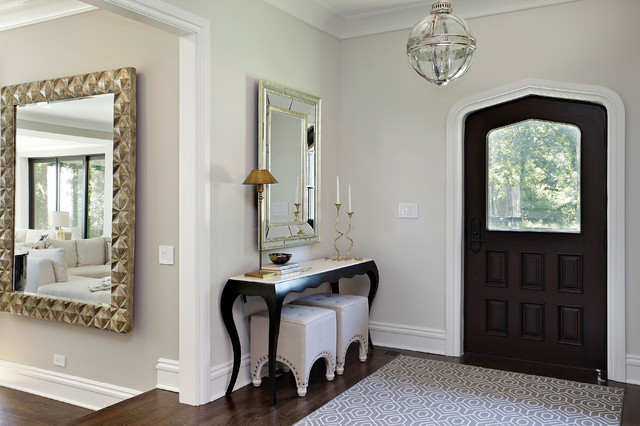 narrow console table Entry Transitional with baseboards console table entry