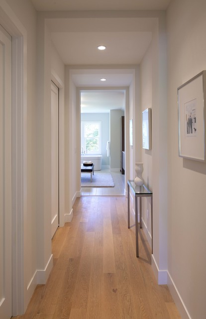 Narrow Console Table Hall Contemporary with Baseboards Ceiling Lighting Console