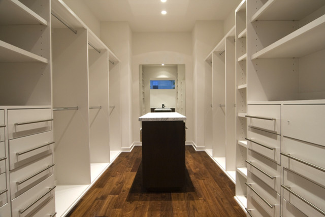 Narrow Dresser Closet Modern with Contemporary Hardware Full Length