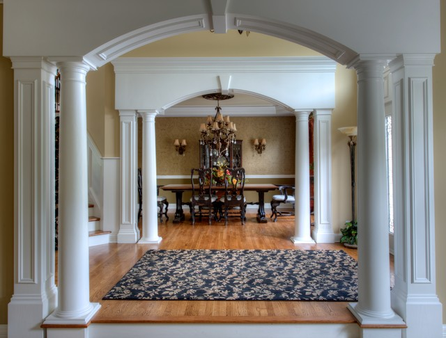 Navy Area Rug Entry Traditional with Arched Entry Area Rugs
